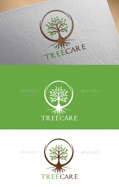 Tree Care Logo Template  — EPS Template #plant #charity • Download ➝ https://graphicriver.net/item/tree-care-logo-template/18564211?ref=pxcr