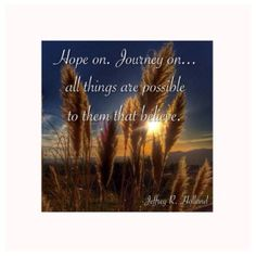There is Hope | fMh {sharing experiences of hope in the comment thread}