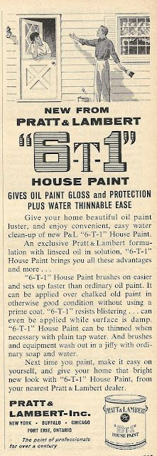 """1962 ad: Pratt & Lambert """"The paint of professionals for over a century"""""""