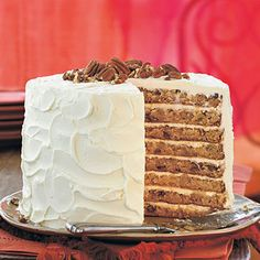 This cake's signature ingredients mashed banana, pineapple, coconut, and pecans assure its continued popularity.
