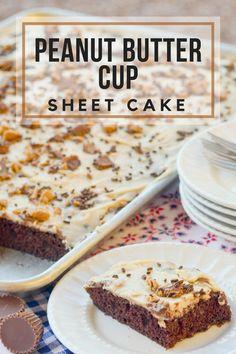 Recipes-Cake| peanut-butter-cup-sheet-cake-recipe