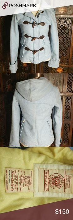 Baby Blue Hollister Jacket See photos and label for fabric content.  Looks vintage. Hollister Jackets & Coats