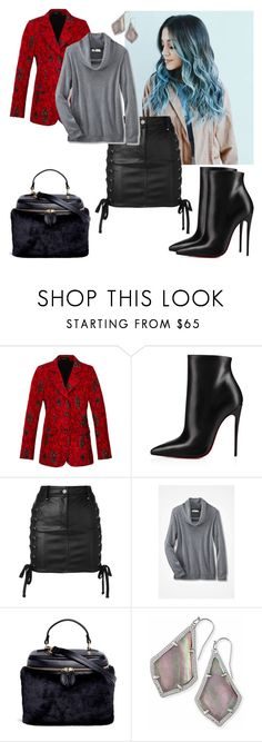 """""""Demons I get. People are crazy."""" by black-wings ❤ liked on Polyvore featuring Derek Lam, Christian Louboutin, Versus, Vasic and Kendra Scott"""