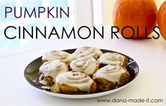 Pumpkin Cinnamon Rolls. Yum.