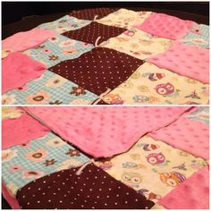 Baby girl blanket.  SewnLuvingly on fb.