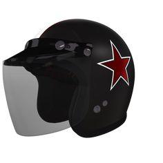 Custom 500 Retro Star Check this out! Mein ganz persönliches #helmade Design auf helmade.com :https://www.helmade.com/de/helmdesign-bell-custom-500-retro-star.html