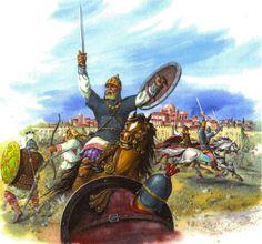 Byzantine army in battle