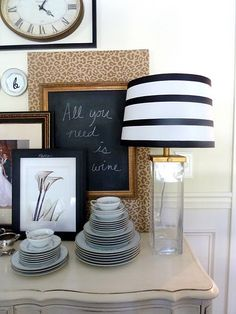 must make a striped lampshade (la bella): yes I must...so classy and elegant :)