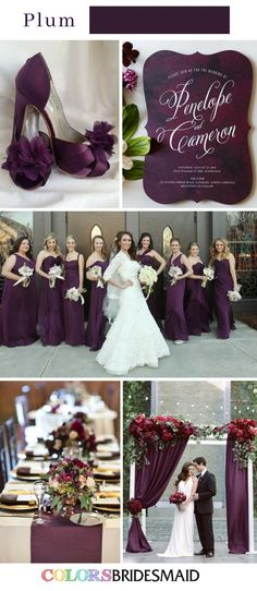Fall Wedding Colors with Purple-10 Purple Wedding Color Schemes (Plum Wedding)