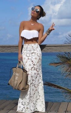 Maillot de bain : Vestidos playeros… - Flashmode Trends - Image Sharing World Vacation Outfits, Summer Outfits, Summer Dresses, Beach Dresses, Pool Party Outfits, Summertime Outfits, Winter Outfits, Style Désinvolte Chic, My Style