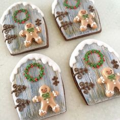 ginger man in front of the door cookies♡