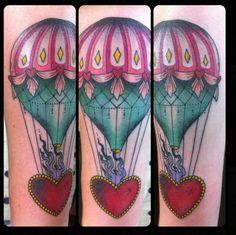 Hot air balloon by Guen Douglas