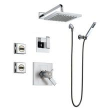 View the Delta Arzo TempAssure Shower Package with Thermostatic Trim, Diverter Trim, Hand Shower and 2 Body Sprays at FaucetDirect.com.