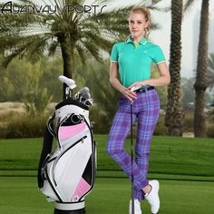 (34.30$)  Watch here - http://aijxy.worlditems.win/all/product.php?id=32775820742 - The British Ladies Golf sports pants Plaid trousers belt pants slim good elastic women Breathable Comfortable  quick drying