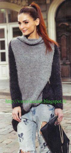 ВСЕ СВЯЗАНО. ROSOMAHA.: Пушистый свитер свободного покроя.