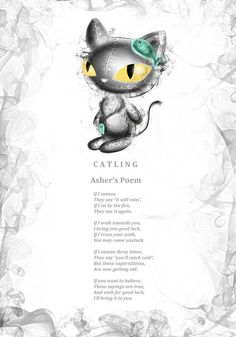 Asher Catling's poem. Every Frightlings character comes with it's own spooky poem.