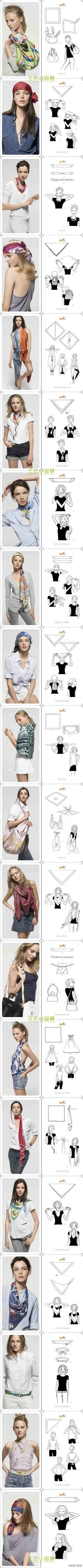 women's fashion: 20 useful ways to use ordinary scarf