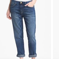 """Current Elliot boyfriend Jean These jeans are so cute. In great condition, are a boyfriend Jean from current Elliot """"fling"""" style in loved wash. Sold out item. Size 27 (would fit a 28 or small 29 with less of a bf fit). So cute!!!!!! Current/Elliott Jeans Boyfriend"""