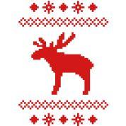 moose caribou reindeer deer christmas norwegian knitting pattern rudolph rudolf winter snowflake sno Hooide | Spreadshirt | ID: 8168589