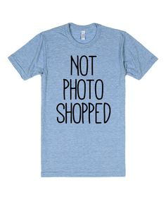 Look at this Athletic Blue 'Not Photoshopped' Crewneck Tee on #zulily today!
