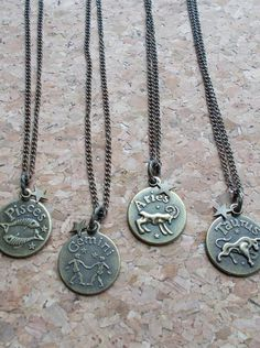Zodiac Symbol Bronze Necklace - Avail. in All 12 Signs Pin this for later!