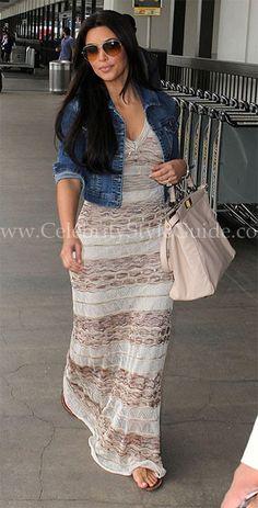Seen on Celebrity Style Guide: Kim Kardashian leaving LAX Airport June 4, 2011