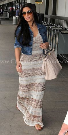 Seen on Celebrity Style Guide: Kim Kardashian leaving LAX Airport June 4, 2011