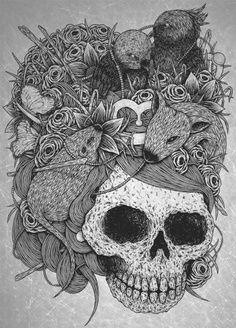zentangle skulls images - Google Search