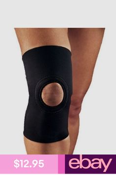 04163258d3  6.99 - Black Patella Elastic Knee Brace Fastener Support Stabilizer ...
