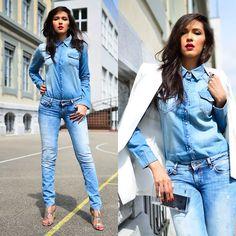 Patricia Do Nascimento - Salsa Jeans, H&M Shirt, Mango Blazer - SALSA JEANS…