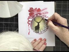 Sweet Poppy Stencils New ... Snowflake Flourish Stencil and Lavinia Stamps - YouTube Christmas Deer, Christmas Baubles, Snowflake Ornaments, Snowflakes, Lavinia Stamps Cards, Arts And Crafts, Paper Crafts, Homemade Cards, Poppies