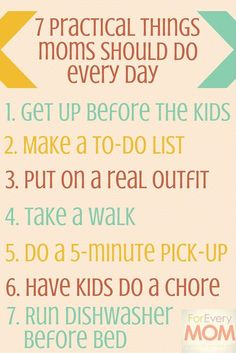 7 practical things moms can do every day to rock mom life