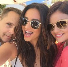 Chad Lowe, Shay Mitchell, and Lucy Hale Chad Lowe, Nia Peeples, Laura Leighton, Vanessa Ray, Tammin Sursok, Torrey Devitto, Pll Cast, Holly Marie Combs, Tyler Blackburn