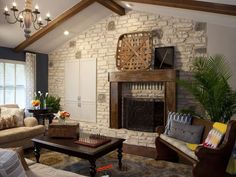 Property Brothers design...love this style!  The tobacco basket makes it.