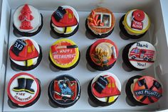 firefighter cupcakes