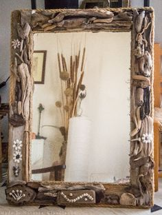 Driftwood Mirror, Cozy House, Fantasy, Sea, Frame, Home Decor, Picture Frame, Decoration Home, Cosy House