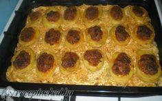Töltött krumpli savanyú káposzta ágyon recept fotóval