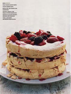 Gourmet magazines three layer pavlova.