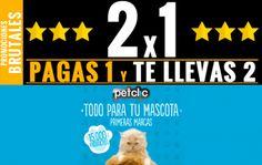 Promoción de 2x1 en productos para mascotas en Petclic