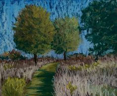 Check out this item in my Etsy shop https://www.etsy.com/listing/485078189/original-pastel-trail-through-forest