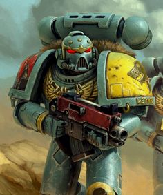 ArtStation - Warhammer 40k Space Wolf Steam poster, Vasiliy Kravtsov