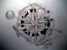 Steam-punk compass by *Tattoo-Design on deviantART