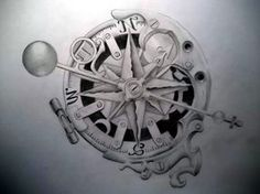 Steam-punk compass by *Tattoo-Design on deviantART