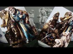 Pintura barroca em gesso, arte envelhecida (Passo a passo) - YouTube