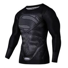 2016 novo esporte bicicleta camisolas camisa masculina de fitness 3 d superman para se juntar ao ginásio e executar na parte superior da camisa
