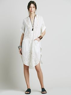 Free People Swing Your Eyelet Round Buttondown at Free People Clothing Boutique