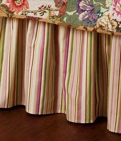 Annie Stripe Bed Skirt