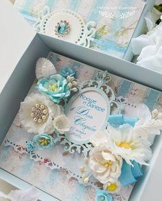 Купить открытка в коробочке свадебная «С ромашками» - свадебная открытка, подарок молодоженам