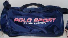Ralph Lauren Polo Sport RL USA Flag Vintage Blue Duffle Bag Gym Carry On Travel #RalphLauren #DuffleGymBag