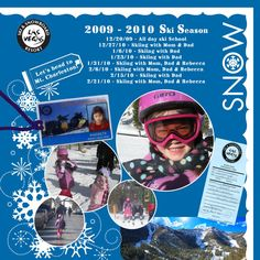 skiing scrapbook page ideas - Google Search
